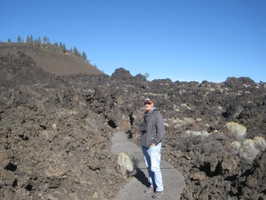 Walking through the lava field