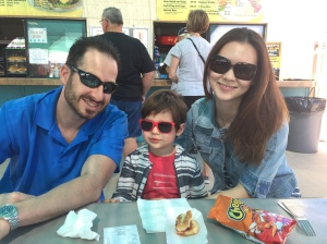 Arizona Swap Meet...the desert Furtahs: Kevin, Mariya and Mason