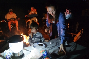 S'mores in action!