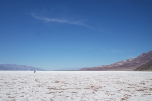 A lot of salt at the bottom of Death Valley