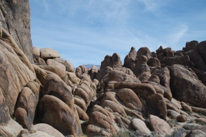 The unique rocks of the Alabama Hills