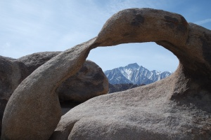 Mount Whitney through the arch rock